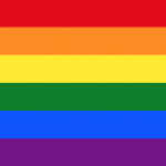 The Rainbow flag, often used as a symbol for LGBT culture.