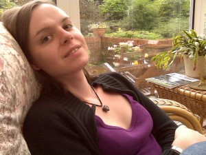 A photograph of T-Vox co-founder Jennifer Kirk